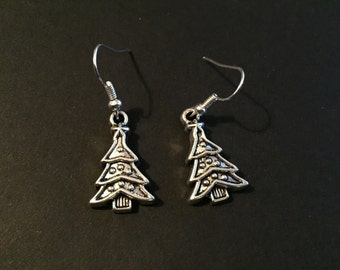 Christmas earrings - snowflake , tree , candy cane