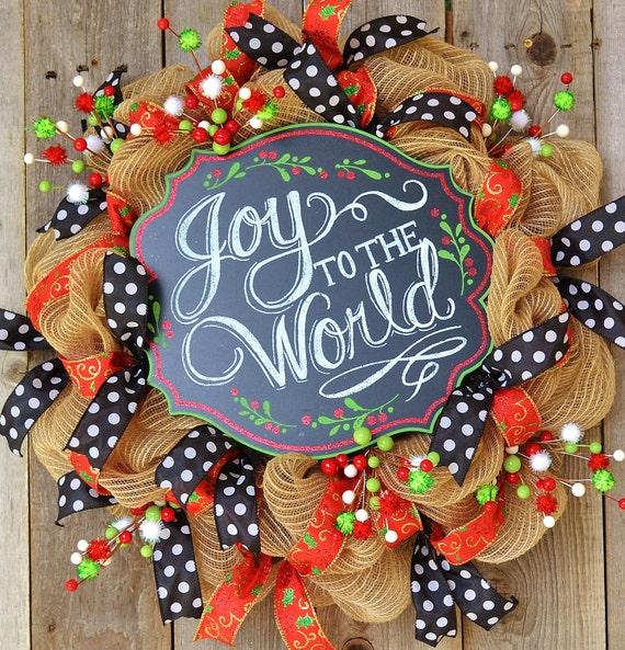 Christmas Wreath Joy To The World Christmas Decoration