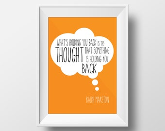What's holding you back? Quote art print