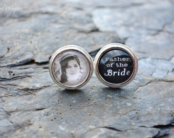 Father Of Bride Cuff Links - Gift For Dad - Wedding Cuff Links - Father Of Bride - Gift For Father - Custom Wedding Gift