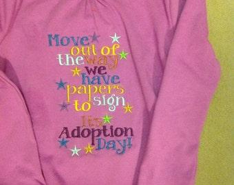 Adoption day shirt