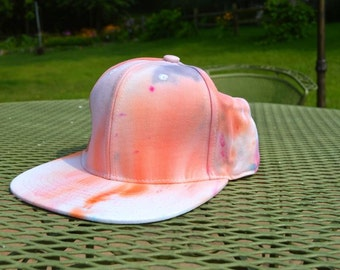 Pink, Orange, and Purple Hand Dyed Snapback Hat