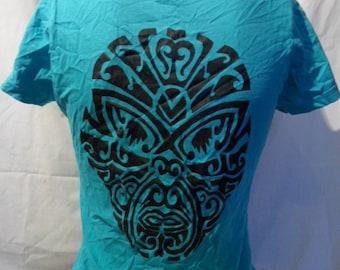 Shirt with Maori head