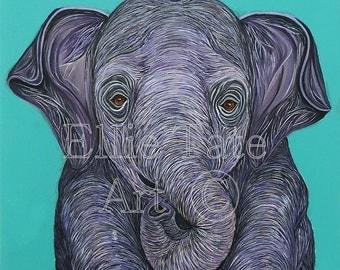 A3 Poster - Sumatran Elephant