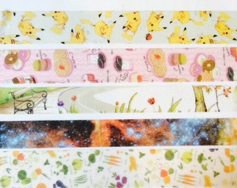 Washi Tape Samples- Colourful Designs