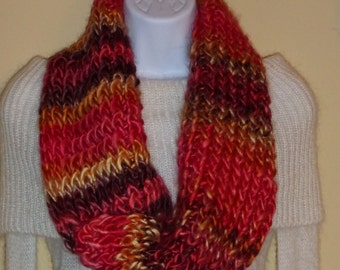 Handmade Knitted Twisted Cowl Scarf