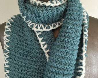 Slate Blue 100% Bamboo Scarf - long and soft