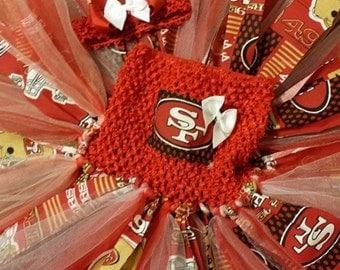 Handmade San Francisco 49ers tutu dress