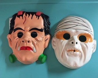 Universal monsters Halloween glow in the dark mask collection frankenstein and the horrible mummy