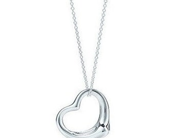 Silver Heart Necklace gift
