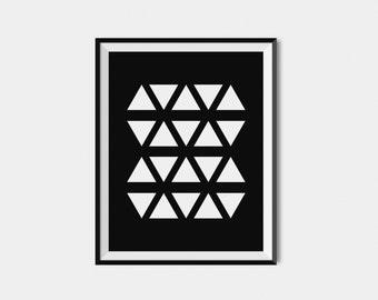 Digital Download Art, Black And White Wall Print, Geometric Print,  Modern Wall Art, Home Decor Wall Art Print, Black White Room Decor Print