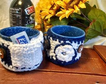 Blue and White Mug Cozy