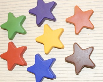 EarthStar Crayons! Non-toxic, plant and mineral based star shaped crayons.