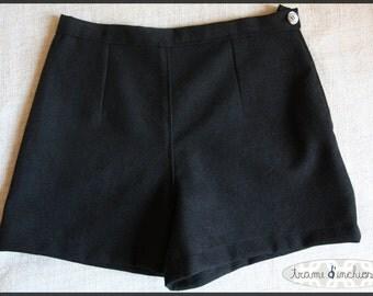 gray wool shorts