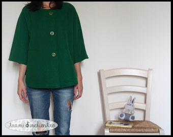 wool green cape