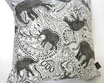 Elephant Cushion - with paisley print