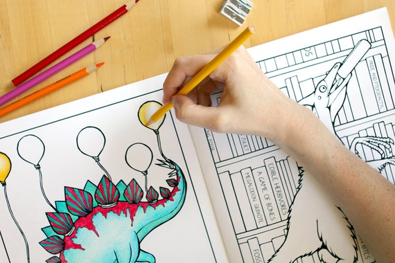 dinosaur coloring book adult coloring book coloring book for. Black Bedroom Furniture Sets. Home Design Ideas