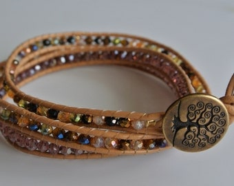 Earth Toned Wrap Bracelet