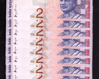 Malaysia 10 consecutive serial banknotes collection (1989 ND) 10 Ringgit, (Uncirculated)