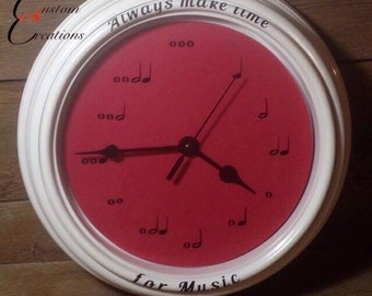 Always make time for Music, music note clock