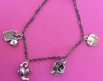 Teatime charm bracelet