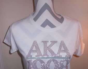 Alpha Kappa Alpha Sorority bling T-shirt