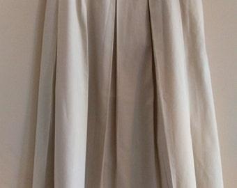 Vintage 50s pleated khaki skirt