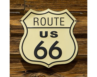Route 66, Retro Route 66 Sign, Americana, Old Route 66 sign, Photo of Route US 66 Sign, Retro, Nostalgic Old Road Sign