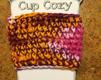 READY TO SHIP - Reusable Coffee Cup Sleeve - Coffee Cozy - To Go Coffee Cozy - Coffee Sleeve - stocking stuffer