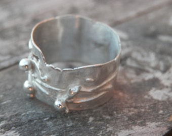 RING Sterling Silver design Galactica, Large , Modern