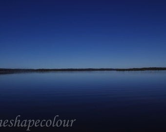 Deep blue sky and water - Landscape photography print