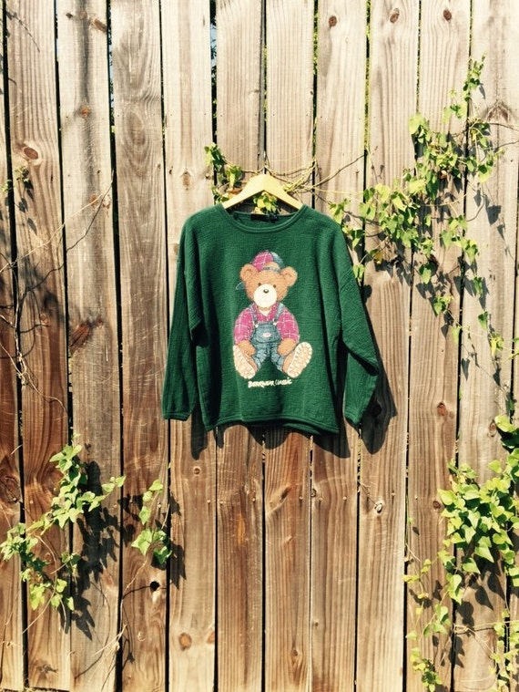 90s Bearwear Classic Crewneck Sweater