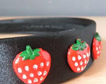 Strawberries Alice band.