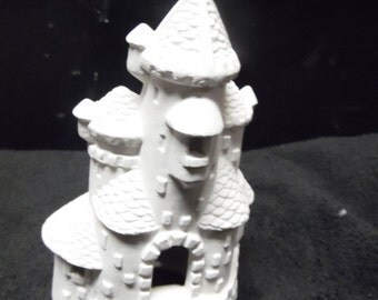 Ceramic bisque ready to paint small castle