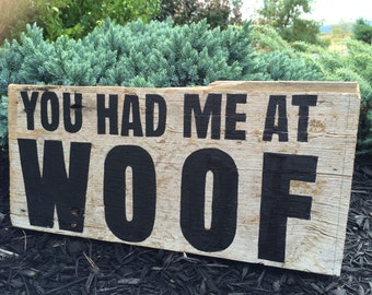 Reclaimed Barn Wood Dog Lovers Sign