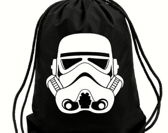 Storm Trooper gym bag,pe bag,school bag,water resistant drawstring bag.