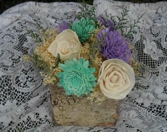 Birch Vase Centerpiece