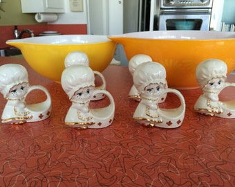 Vintage Ceramic Adorable Napkin Rings