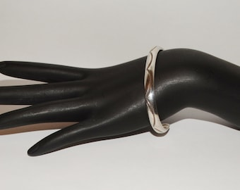 Vintage Solid Sterling Navajo signed Cuff Bracelet.