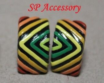 Colorful Earrings, earrings clay, jewelry earrings