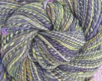 16 micron handspun yarn, worsted to bulky weight