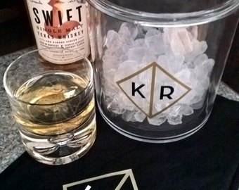 Monogram Ice Bucket, Personalized Ice Bucket