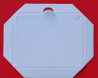 White Velour-Flocked Cardboard Jewelry Gift Necklace Box Insert NEW - Lot of 50