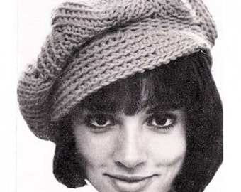 Crochet Newsboy Hat Ripple Newsie Tom Boy Cap Hat Beanie Crochet Pattern PDF Instant Download