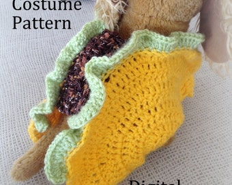 Taco Pet Costume Crochet Pattern, Taco Cat Crochet Pattern, Taco Dog Costume Crochet Pattern, Halloween Pet Costume Crochet Pattern