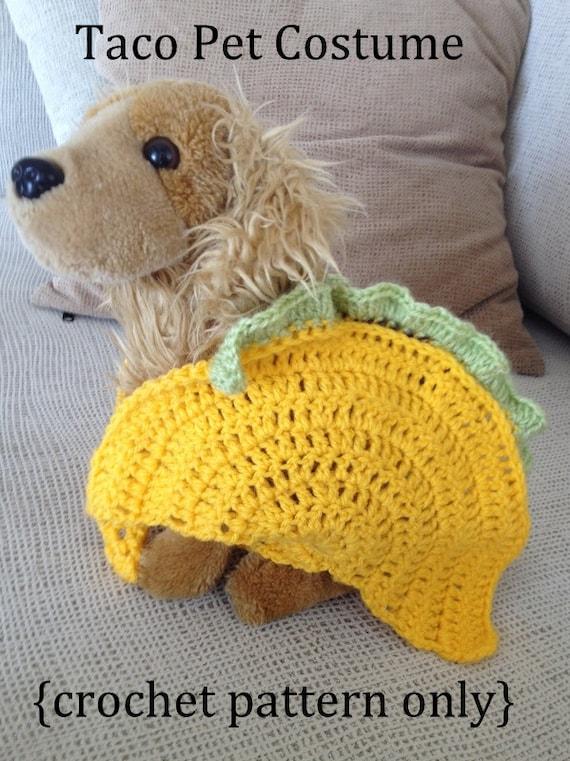 Taco Pet Costume Crochet Pattern Taco Cat Crochet Pattern |Taco Dog Halloween Costume Pattern