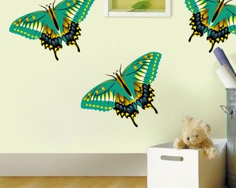 Butterfly Decals, Butterfly Wall Designs, Reusable Butterfly Decals, Removable Butterfly Wall Mural, Butterfly Stickers, Butterfly Art, n77
