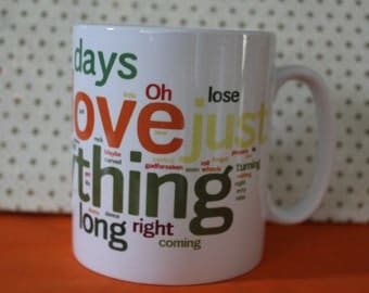 MEATLOAF I would do anything for love  tea/coffe Cup Mug