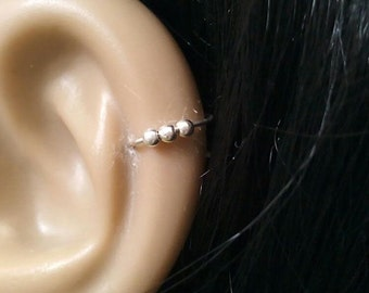 CARTILAGE EARRING/tiny cartilage earring/silver cartilage earring/gold cartilage earring