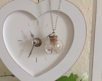 Glass orb pendant